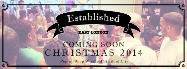 Established East London will open their pop-up shop in Westfield this Christmas