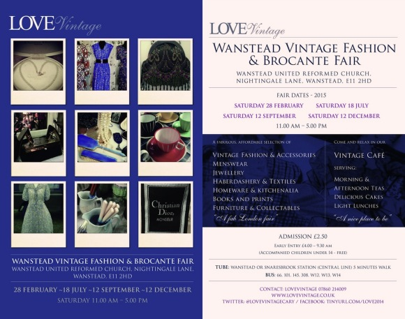 Wanstead Vintage Fashion & Brocante Fair Feb 28 2015