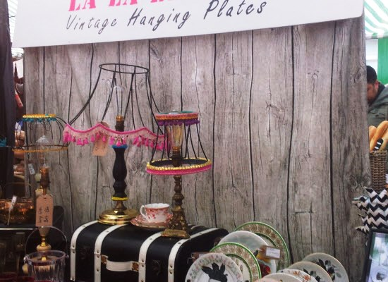Vintage and upcycled home decor from LA LA Leanne.com at Broadway market, London