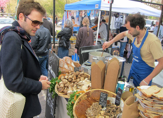 Delicious Mushroom Risotto at Broadway Market