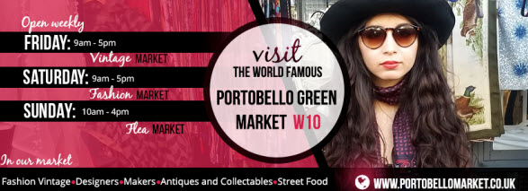 Visit Portobello Green Market in London