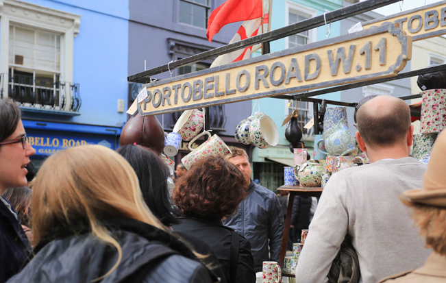 Antiques at Portobello Road Market