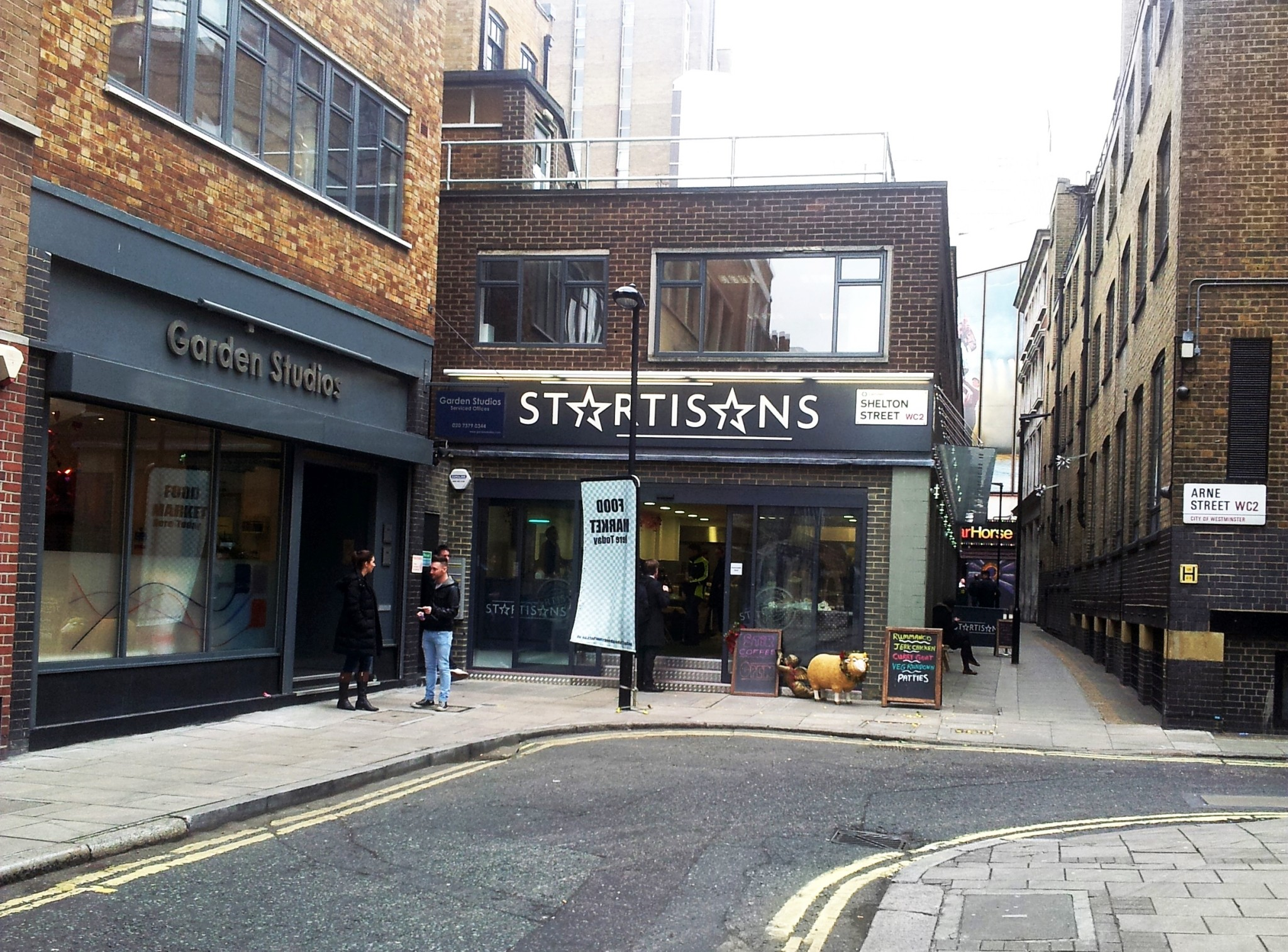 Startisans is located on Shelton Street and can be spotted from Neale Street.