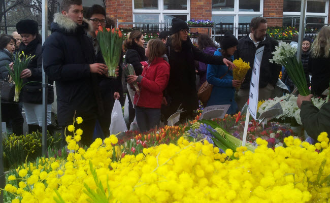 Columbia Road Flower Market on Mothers Day