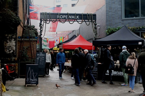 The Entrance to Rope Walk, Maltby Street Market