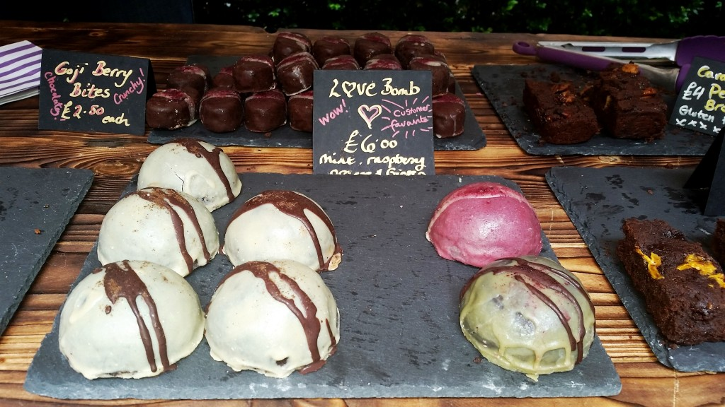 Love Bombs Chocolate Stall Rosewood Slow Food and Living Market