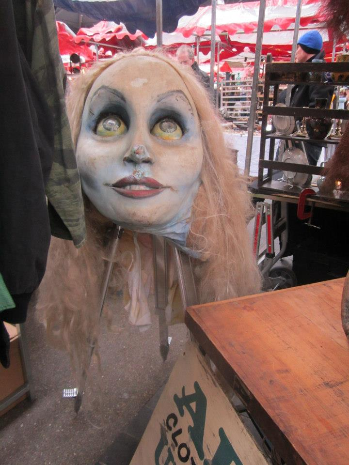 weird stage props at Old Spitalfields Thursday Antique Market