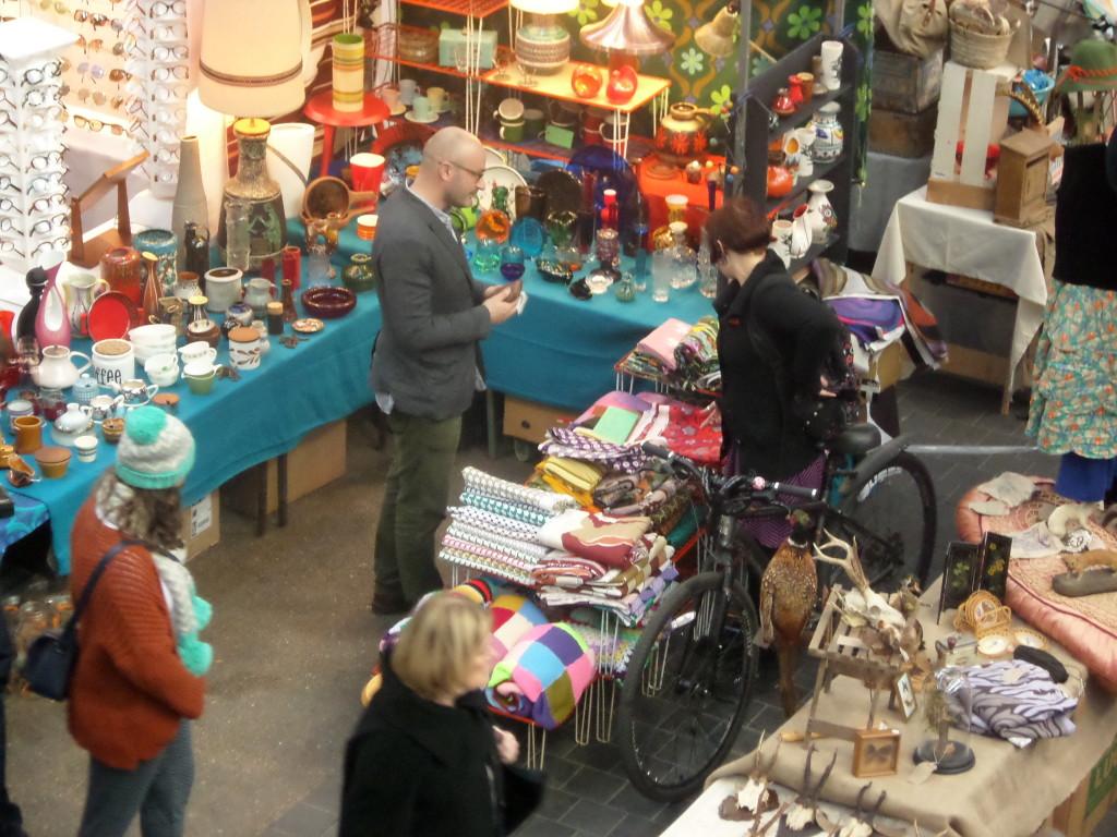 Antique stalls at Thursday Antique Market