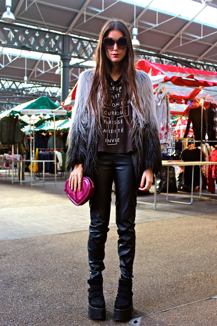 Street Fashion trends at Old Spitalfields Thursday Antique Market