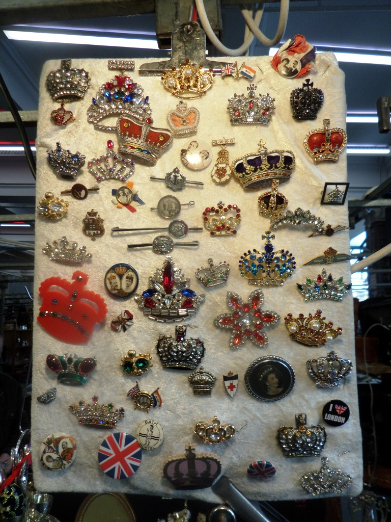 Royal Family Commemoratives at The Jubilee Antiques Market Covent Garden