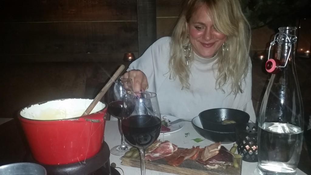 Katie Ingham gets lost in a swiss cheese fondue at Thee Lodge, Clapham. Read the review