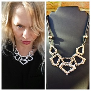 Chrome and Black Necklace on i Love Markets