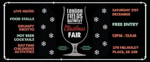 London Fields Christmas Fair 2016
