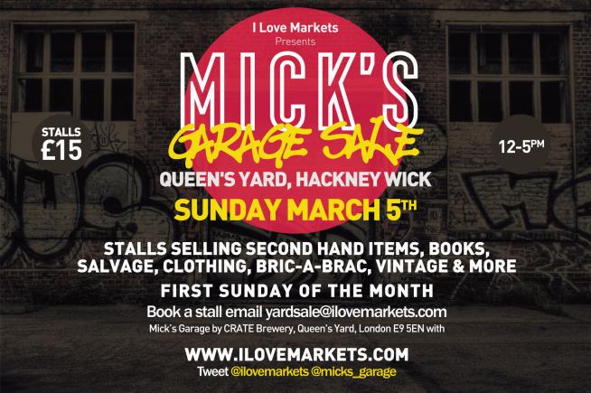 Mick's Garage Sale