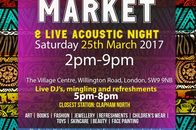 The Village Pop Up Market, Debate and Showcase