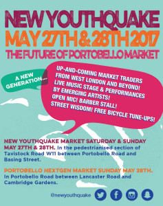 Apply for a stall. May 27 & 28. Portobello New Youthquake and Next Generation Market