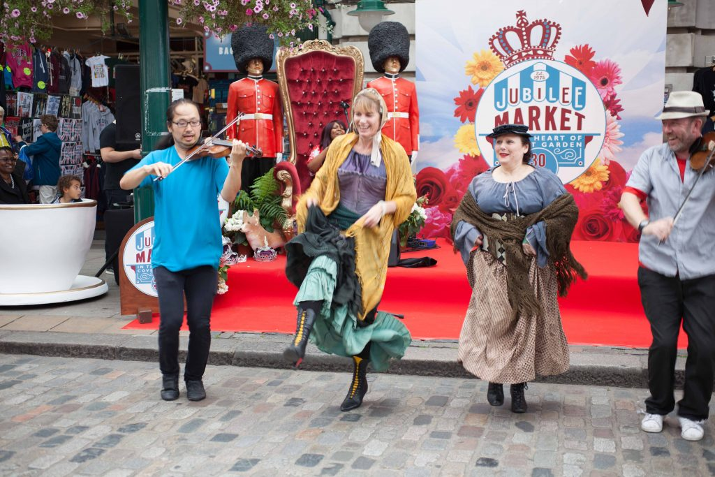 Aug 3 + 5 head to Jubilee Market Covent Garden for some show stopping performances