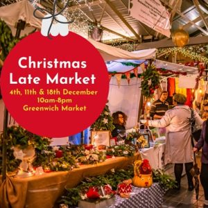 Late night shopping at the market every Wednesday in December 2019