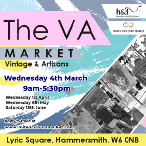 Wednesday 4th March Vintage and Artisan Market in Hammersmith