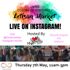 May 7 on instagram stories with I Love Markets