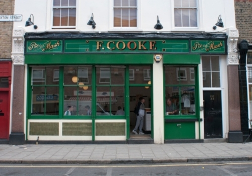 F. COOKE'S PIE AND MASH